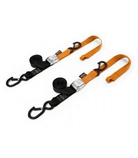 Powertye par cintas aperto 3,8x185cm preto/laranja