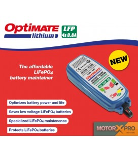 Carregador baterias OptiMate Lithium 0.8A