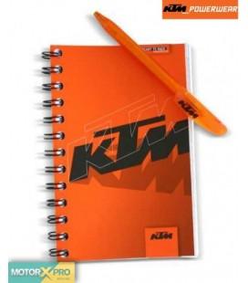 KTM bloco notas + caneta