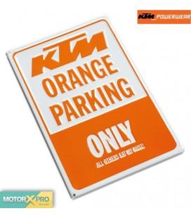 KTM Placa estacionamento