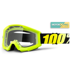 100% Strata Neon Yellow Clear