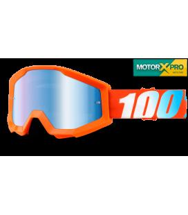 100% Strata Orange Mirror Blue