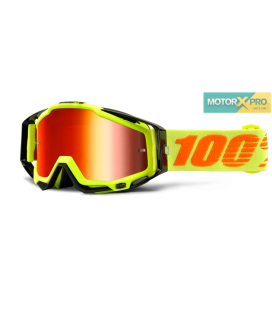 100% Racecraft Atack Yellow Mirror Red
