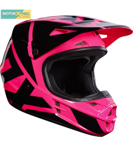 Capacete V1 Race Fox  Rosa