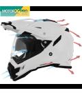 Capacete AFX FX-41DS Branco/Preto/Cinza/Laranja