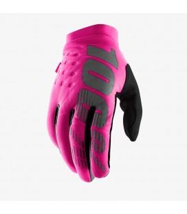 Luvas senhora inverno 100% Brisker neon Pink