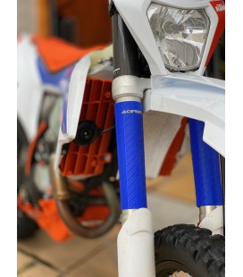 Protecção de Suspenção Borracha Acerbis Azul  RUBBER UP FORKS COVERS USD 47-48 MM