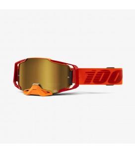 Óculos Armega Litkit 100% lente espelhada dourada