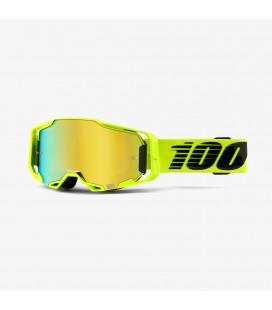 Óculos Armega Nuclear Circus 100% lente espelhada dourada