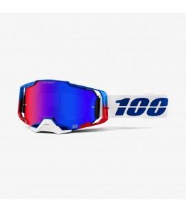 Óculos Armega Genesis 100% lente Hiper espelhada azul/vermelha