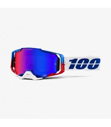 Óculos Armega Genesis 100% lente espelhada azul/vermelha