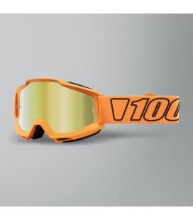 Óculos 100% ACCURI Luminari Lente espelhada Dourada