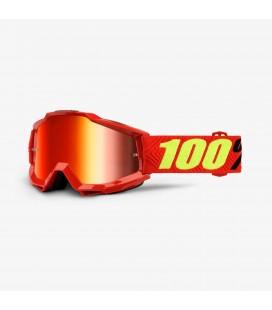 Óculos 100% ACCURI Saarinen Lente espelhada Vermelha