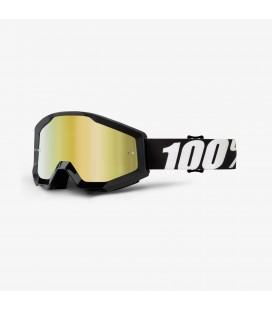 Óculos 100% Strata Outlaw lente espelhada dourada