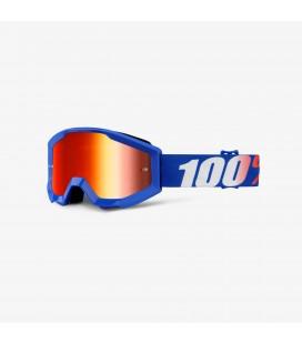 Óculos 100% Strata Nation lente espelhada vermelha