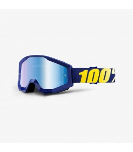 Óculos 100% Strata Hope lente espelhada azul