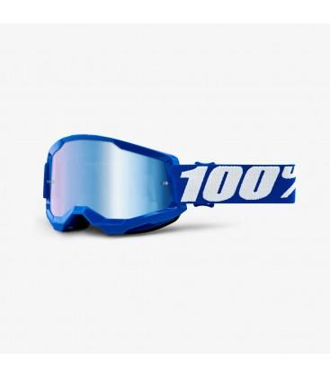 Óculos 100% Strata 2 Azul com lente azul espelhada