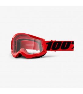 Óculos 100% Strata 2 Vermelho com lente transparente