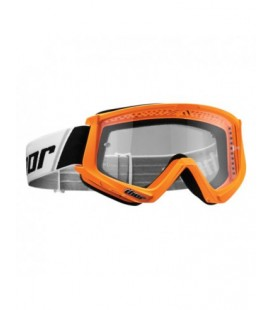 Óculos Combat Thor Laranja fluor  Lentes transparentes Anti-fog