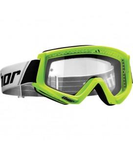 Óculos Combat Thor Verde fluor  Lentes transparentes Anti-fog